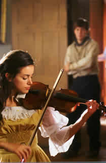 Tiffany Dupont plays violin